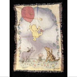 Disney Winnie the Pooh & Friends Fringe Blanket